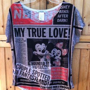 Disney Parks News Shirt Medium NWOT